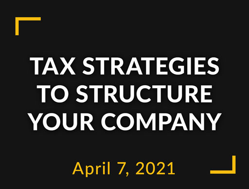 Tax Strategies to structure your company