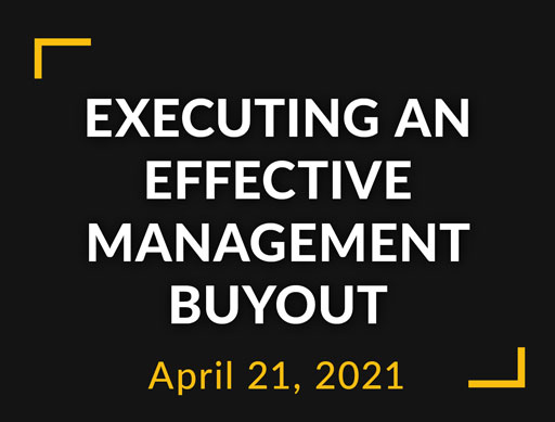 Executing an effective management buyout