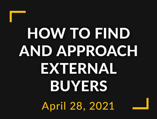 How to find and approach external buyers