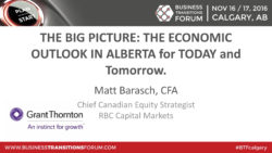 THE BIG PICTURE: THE ECONOMIC OUTLOOK IN ALBERTA FOR TODAY & TOMORROW