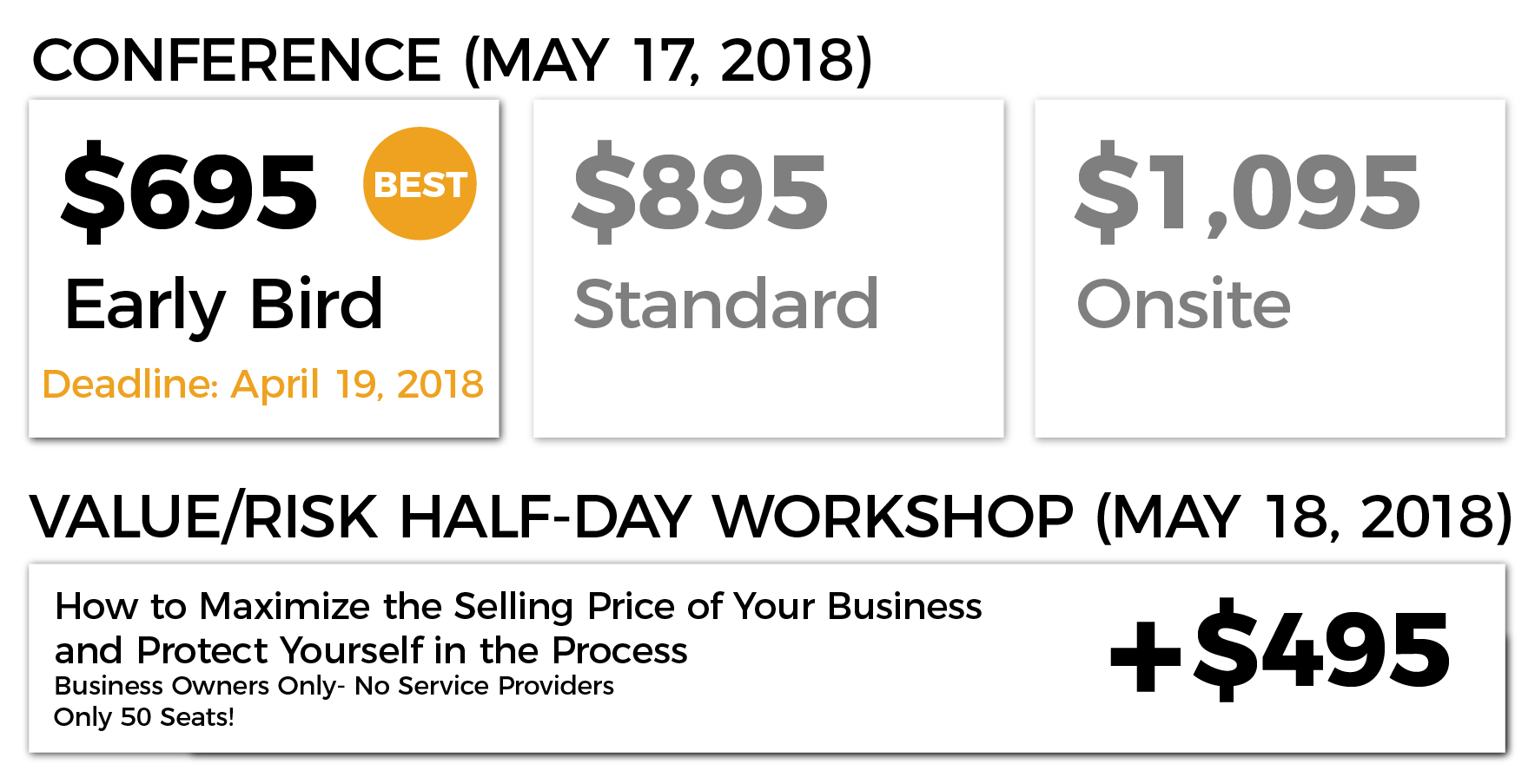Pricing Grid- Early Bird Website- Edmonton